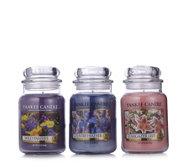 Yankee Candle Set of 3 USA Special Floral Scented Large Jars