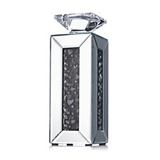 706290 - JM by Julien Macdonald Signature Mirrored Crystal Candle Holder