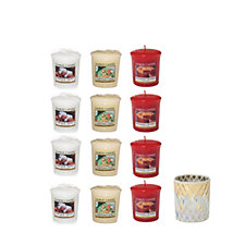 Yankee Candle The Perfect Christmas Set of 12 Votives & Votive Holder