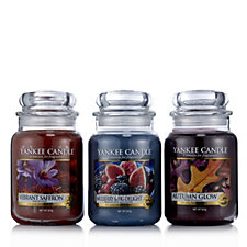 Yankee Candle Set of 3 Fall in Love Large Jars