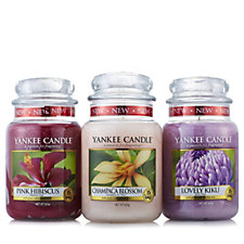 Yankee Candle Set of 3 Exotic Bloom Large Jars