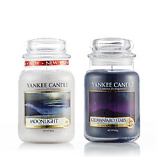 Yankee Candle Set of 2 Moon & Stars Large Jars