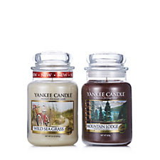 Yankee Candle Set of 2 Ocean & Mountain Large Jars