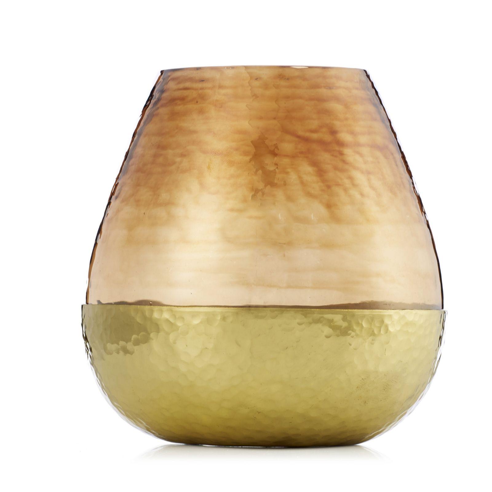 Kelly hoppen small hammered brass vase qvc uk reviewsmspy