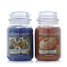 Yankee Candle Set of 2 USA Special Grandma's Kitchen Large Jars