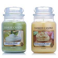 Yankee Candle Set of 2 Vanilla Treats Large Jars