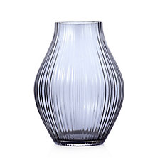 Peony Optic Smoked Vase