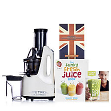 805300 - Jason Vale Retro Slow Juicer with Funky Fresh Juice Book & DVD
