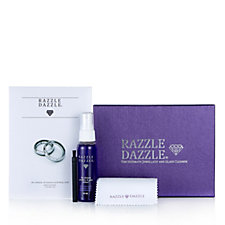 Razzle Dazzle Gift Box w/ Cleaning Solution, Brush & Set of 2 Cloths