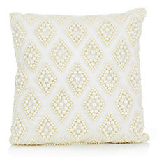 Home Reflections Mini Faux Pearl Diamond Design Cushion