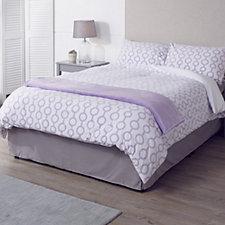 Cozee Home Reversible Geometric Design Fleece 4 Piece Duvet Set