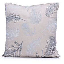 805905 - Alison Cork Feather Embroidered Cushion