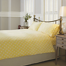 Cozee Home Polka Dot Angel Plush 4 Piece Duvet Set