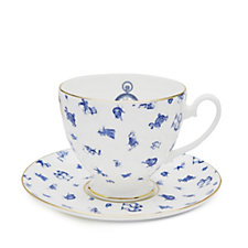 Mrs Moore's Alice in Wonderland Chintz Teacup & Saucer