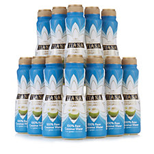 Tiana Fair Trade Organics 12-Piece Raw Coconut Water Selection