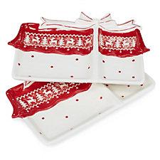 Ceramic Christmas Nibbles Plate