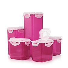 806514 - Lock & Lock 5 Piece Flip Top Food Storage Boxes