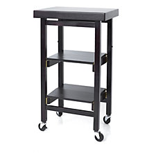 804516 - Folding Island The Mini Kitchen Trolley with Butchers Block Style Top