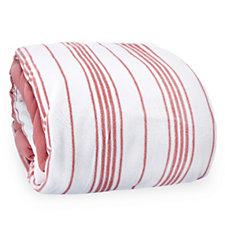 Cozee Home Striped Print Fleece Duvet Set with Deep Fitted Sheet
