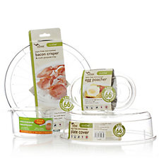 Microwise Eco Chef 4 Piece Breakfast Set