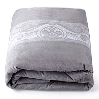 Kelly Hoppen Paisley Print Velvet Throw