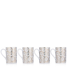 JM by Julien Macdonald Miami Set of 4 Porcelain Mugs in Gift Box