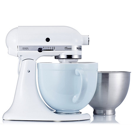 kitchenaid k45 classic mixer with coloured ceramic bowl 5 pc gadget