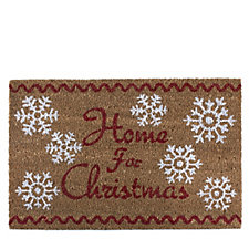Home for Christmas Festive Design Doormat