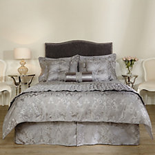 Mayfair Manor Damask Jacquard 10 Piece Bedding Collection