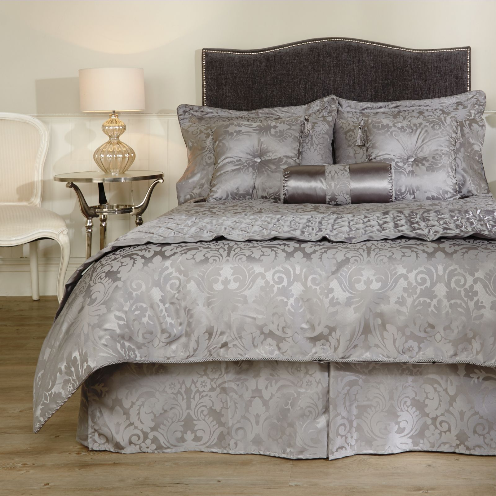 Mayfair Manor Damask Jacquard 10 Piece Bedding Collection - Page 1 - QVC UK