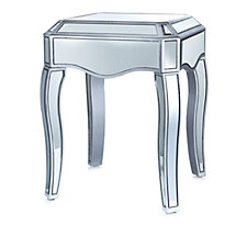 805020 - JM by Julien Macdonald Signature Mirrored Side Table