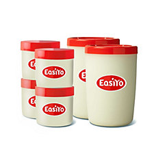 Easiyo Assorted Accessories Pack with 2 Jars & 4 Lunch Takers