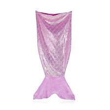 Cozee Home Sparkle Mermaid Tail Blanket