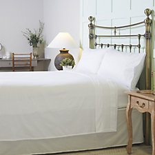 Northern Nights 100% Cotton Broderie Trim Sateen Sheet Set