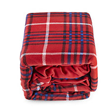 Cozee Home Tartan Printed Fleece 4 Piece Duvet Set