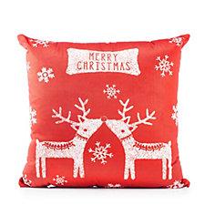 Kissing Reindeer Decorative Cushion