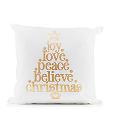 Believe in Christmas Decorative Cushion