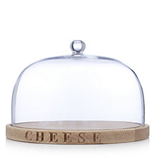 805723 - Culinary Concepts Beech Wood Cheese Board & Glass Dome