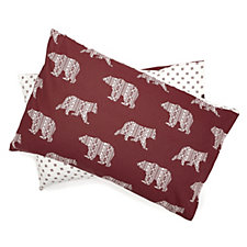 Northern Nights Fairisle Bear Flannel 3 Piece Duvet Set