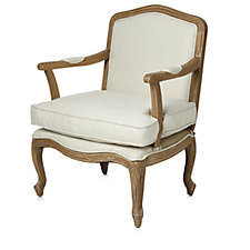 Alison Cork Troussay French Style Carved Oak Armchair