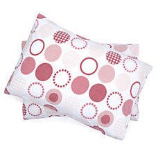 Cozee Home Circle Print Fleece Duvet Set with Deep Fitted Sheet