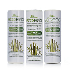 805326 - Ecoegg Reusable Bamboo Viscose Towels 40 x Plain & 20 x Scrubbing