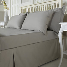 Northern Nights 500TC Plain Dye Fitted Sheet & Housewife Pillowcase Set