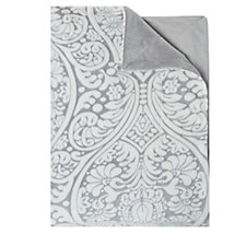 Mayfair Manor Medallion Carved Fleece Throw