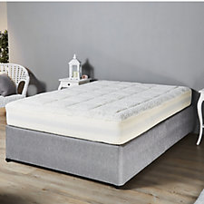 Cozee Home Ultra Fluffy Mattress Topper with Skirt