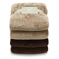 Cozee Home Set of 2 Ultra Fluffie Throws 150cm x 200cm