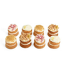 Tweeners by Flower & White 8 Piece Mini Layer Classic Dessert Cake Selection