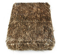 Alison Cork Feather Tipped Look Faux Fur Throw - 804431