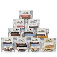 Joe & Seph's Set of 10 Chocolate Snack Pack Selection