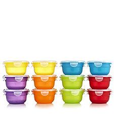 Lock & Lock 12 Piece Mini Bowl Multi-Colour Storage Set